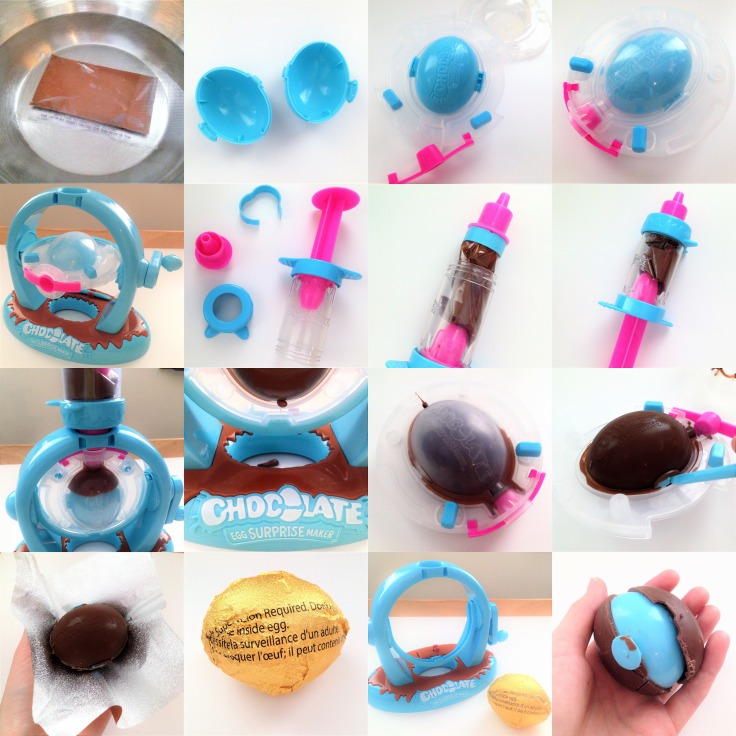Chocolate Egg Maker step by step