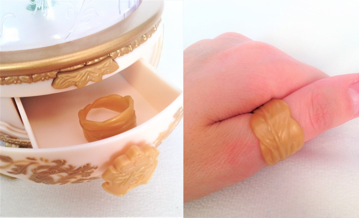 Disney Beauty and the Beast jewelry box feather ring