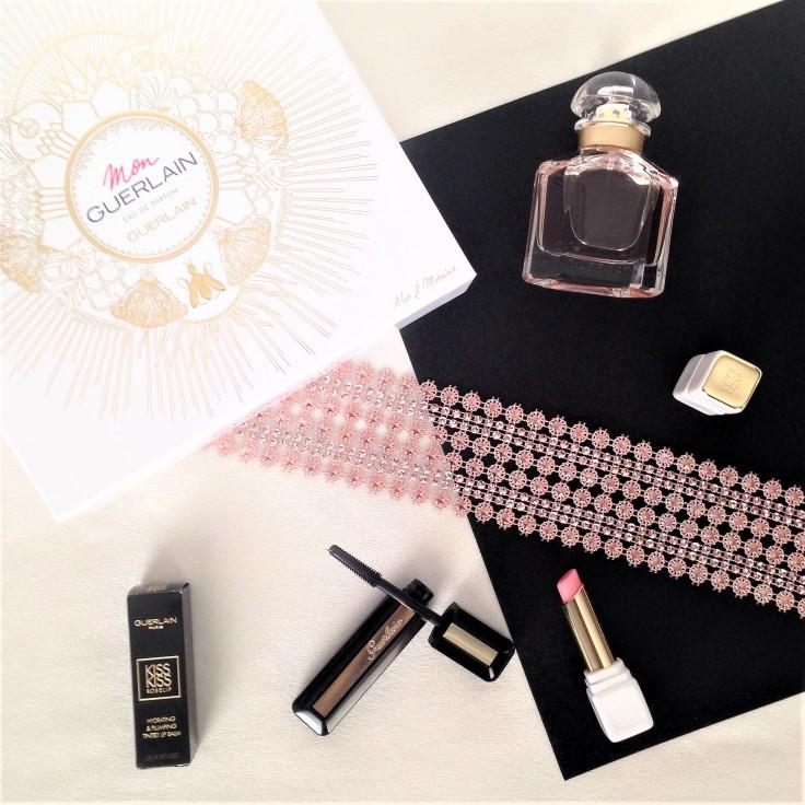 Gurlain_mascara_kisskiss_lip_balm_mon_guerlain_perfume_flatlay