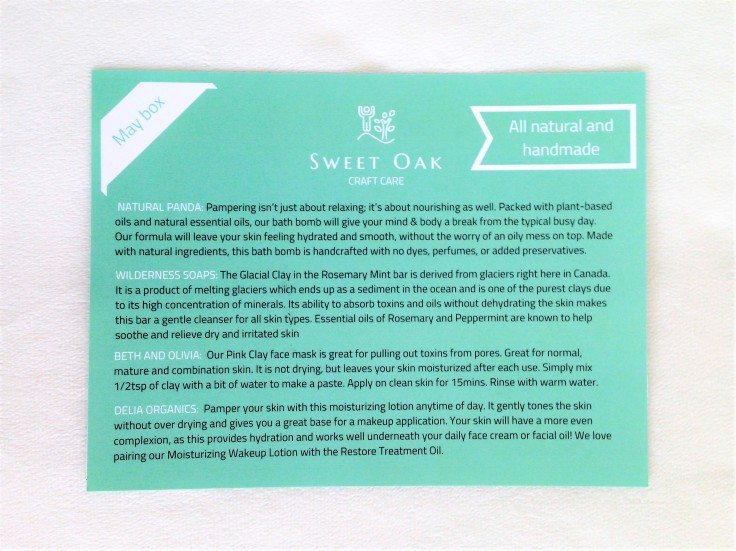 Sweet_Oak_Care_May_2018_review_card