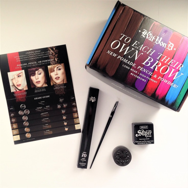 Kat_Von_D_Super_Brow_pomade_brow_brush_Influenster_voxbox_review_unboxing