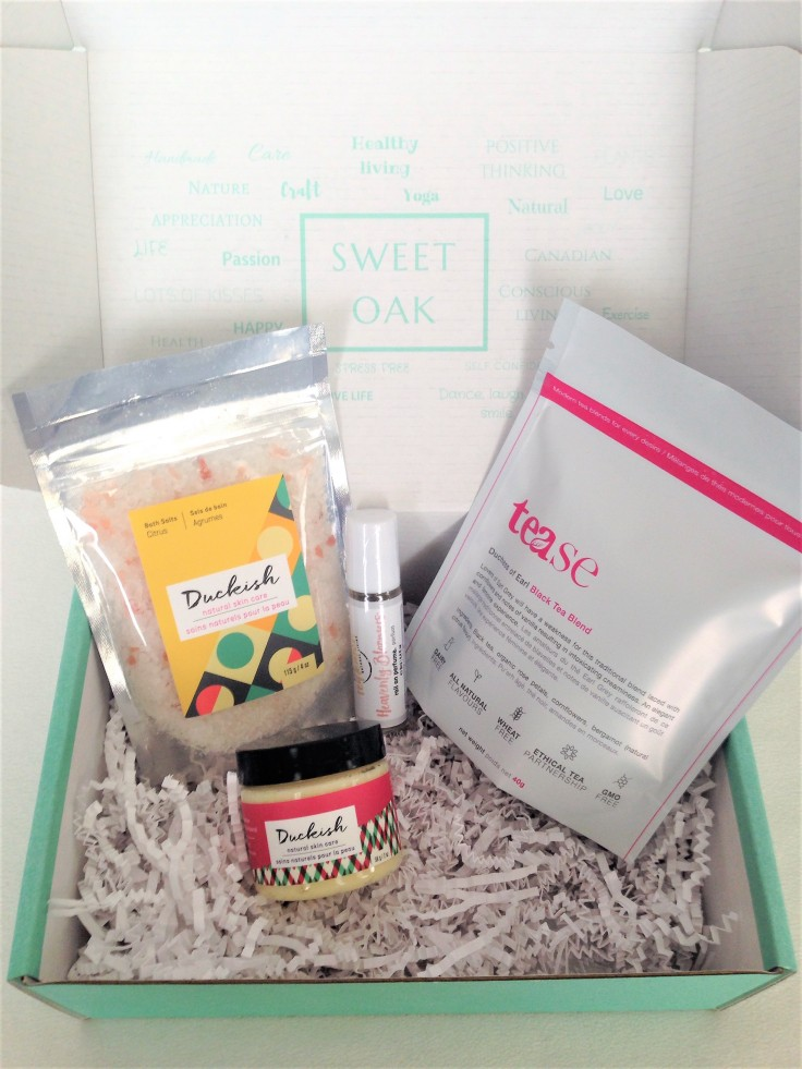Sweet_Oak_Craft_Care_June_2018_subscription_box_review_contents