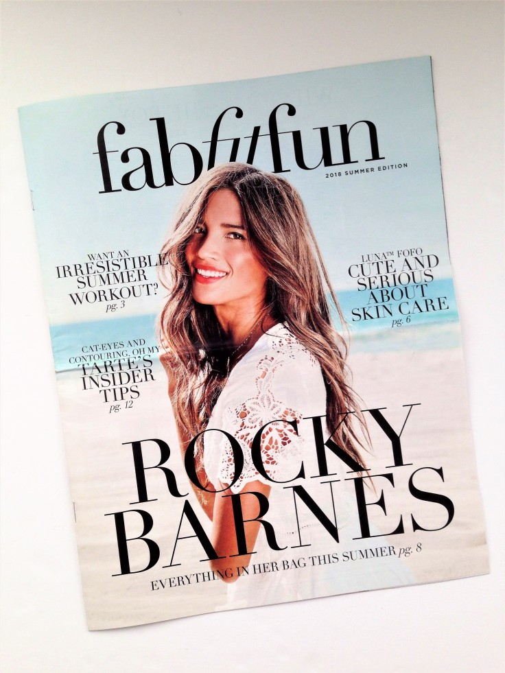 FabFitFun summer 2018 subscription box review magazine