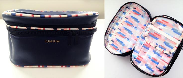 yumi kim makeup train case navy