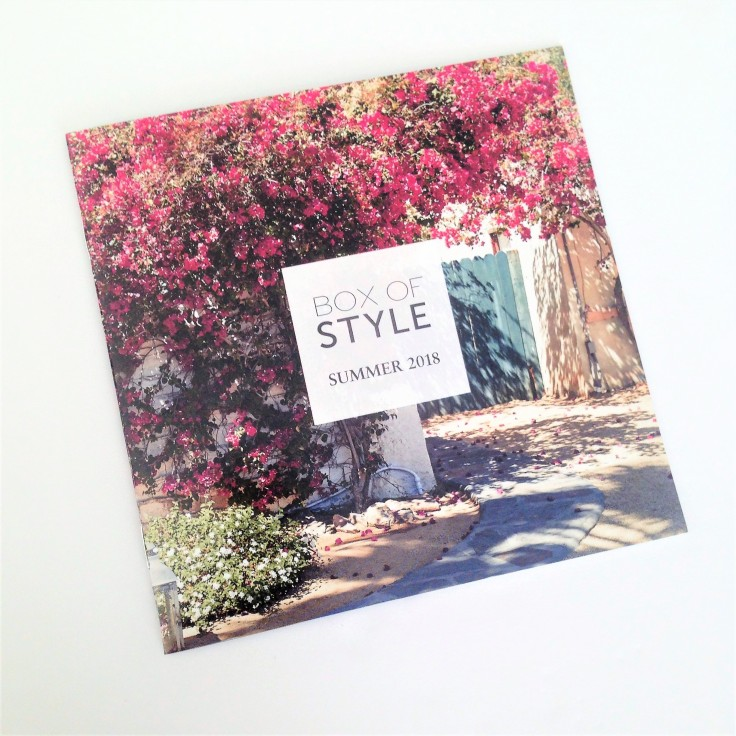 box of style summer 2018 booklet