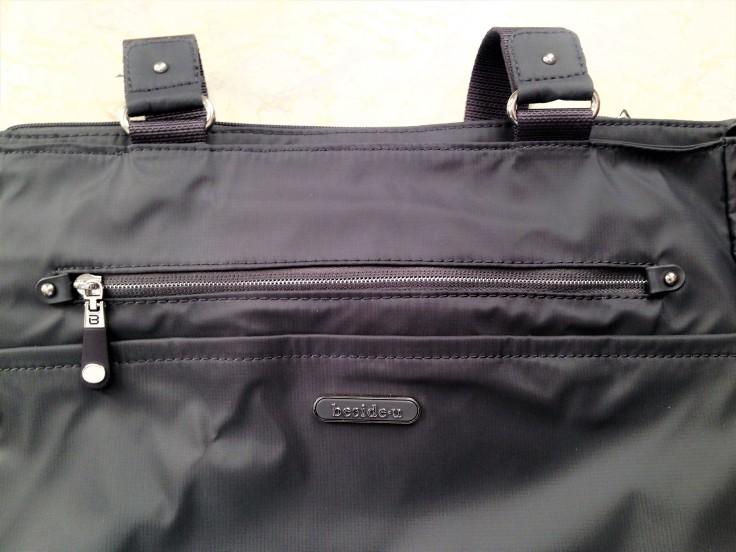Beside U Nutopia Leather Fontana tote bag front zipper