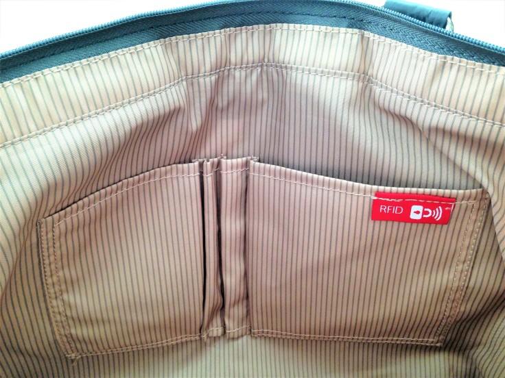 Beside U Nutopia Leather Fontana tote bag inside pockets and rfid