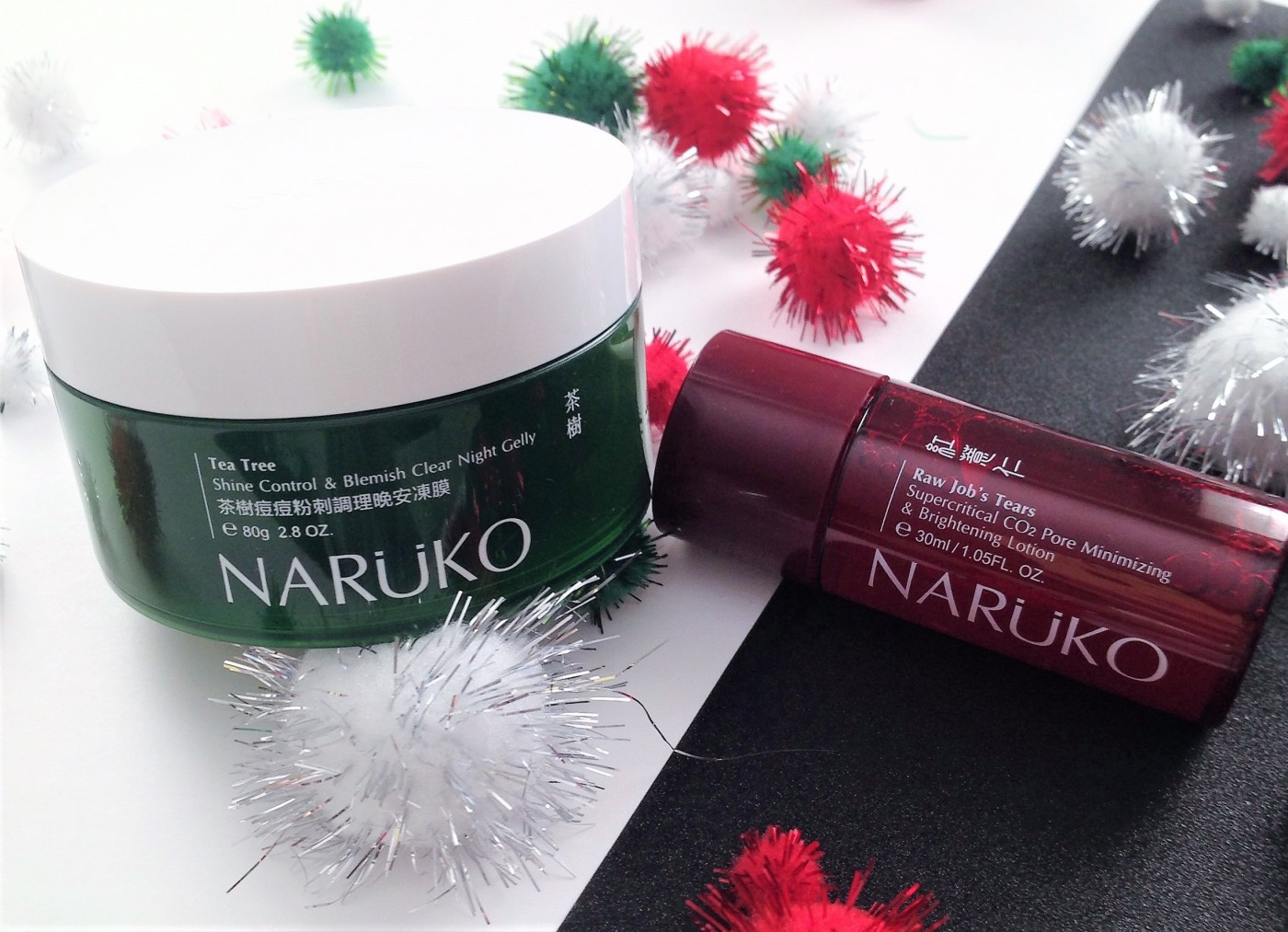 naruko tea tree night gelly and raw jobs tears lotion review