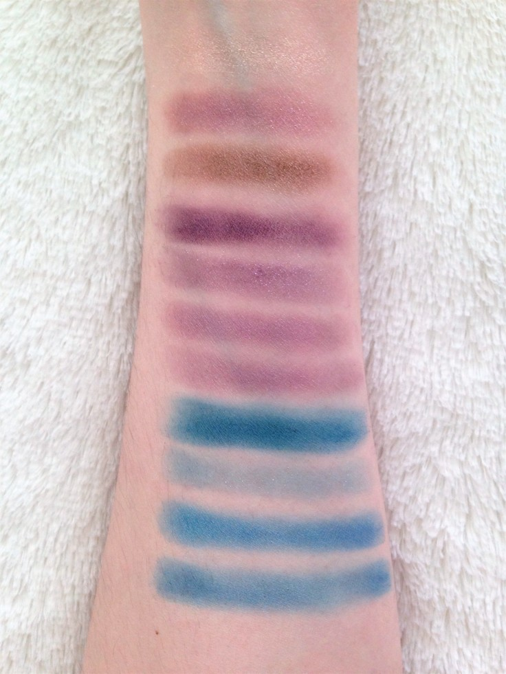almay eyeshadow swatches