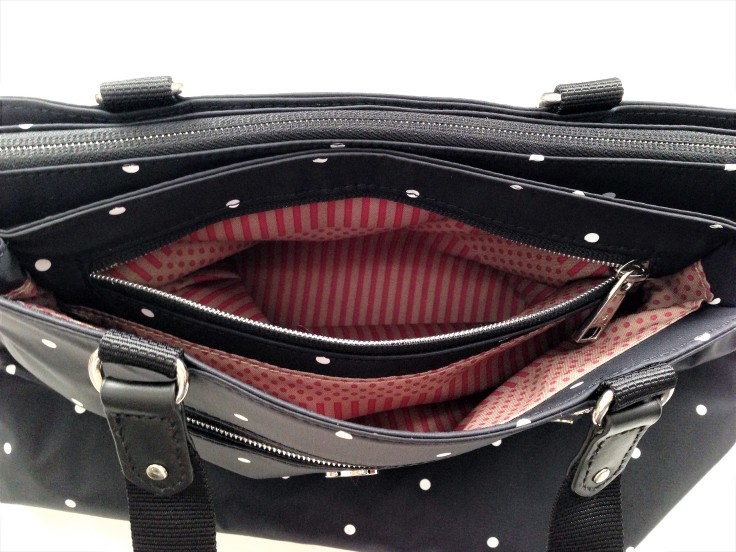 besideu nutopia star chica waterproof tote bag small compartment inner pocket