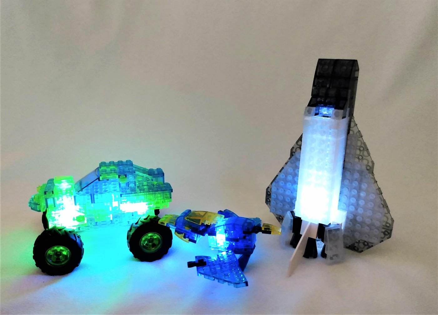 laser pegs light up bricks mega truck aircraft and pterodactyl building kit review